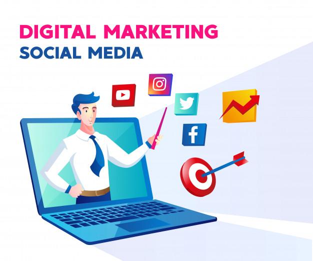 digital-marketing-social-media-with-man-laptop-symbol_112255-360
