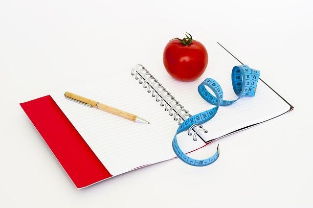 zápisník na dietu